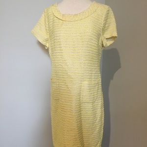 Talbots yellow dress with pockets